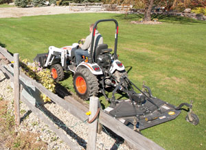 2012 Bobcat CT122 Mowing