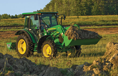 2012 John Deere 5105M Front Right