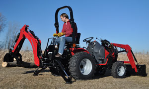 Top dog in the mahindra max lineup has the look that says this tractor