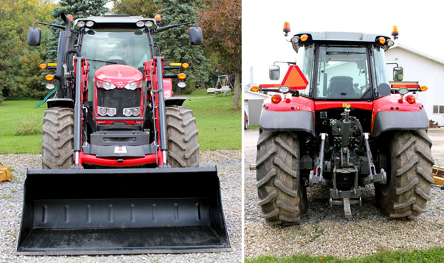 2014 Massey Ferguson 6615 Front and Rear