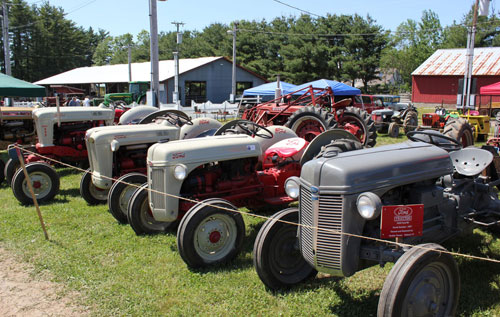 Ford tractors on display at the Antique Engine & Tractor Show