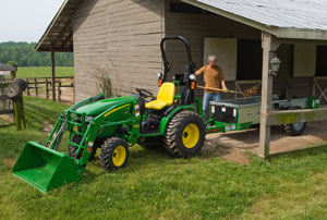 2012 John Deere 2720 HST with Trailer