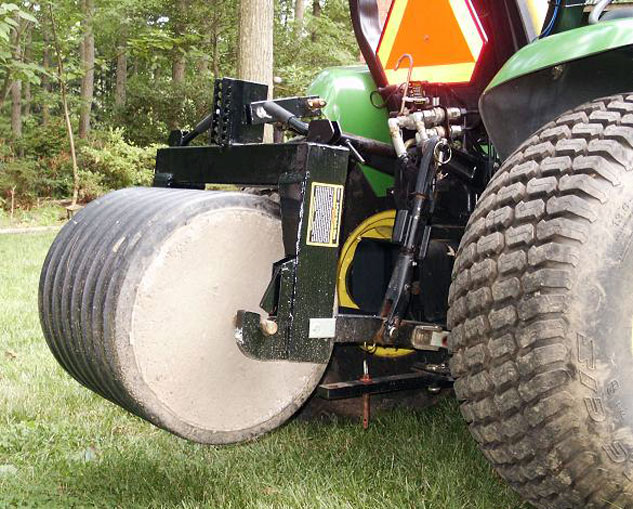 Homemade Wheel Weights : Tractor safety tips