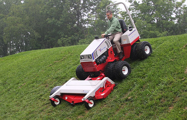 Ventrac Mowing Downhill