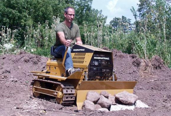 Garden Tractor Track Drive Kit : Struck introduces diy magnatrac bulldozer kit tractor