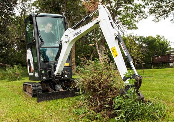 Bobcat E20 Excavator Action
