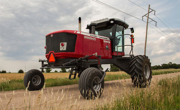 Massey Ferguson WR9800 Series SP Windrower and 2200 Series Square Baler Updated