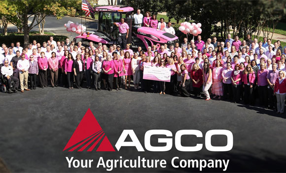 AGCO Raising Funds with Pink Tractor