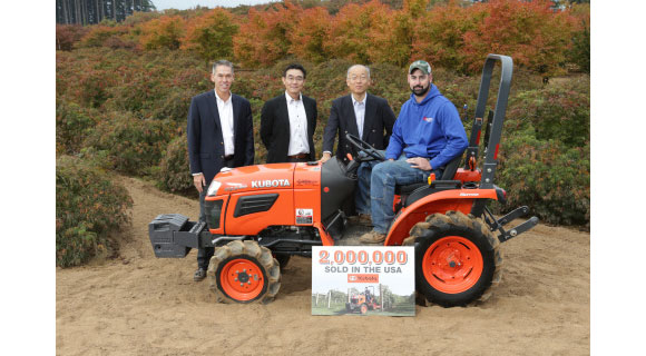Kubota Celebrates Two Million Tractors Sold in US